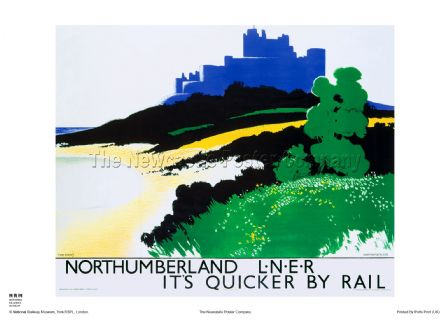 Northumberland - Bamburgh - Railway & Travel Poster